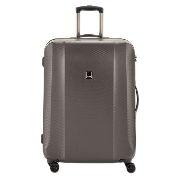Großer #Koffer TITAN Xenon Deluxe bei Koffermarkt: ✓braun ✓4 Rollen ✓Polycarbonat ✓113 Liter ✓74x53x31 cm