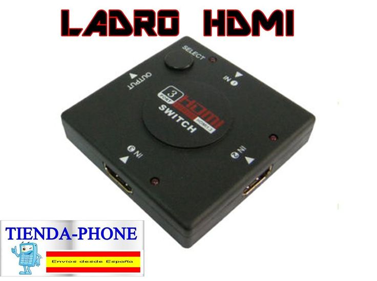 Multipuerto HDMI Switch de 3 puertos 1080P Ladron Splitter hub HDTV PS3 PS4 PC