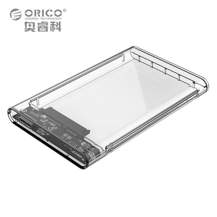 Orico 2.5 inch transparan kasus usb3.0 untuk sata hdd 3.0 alat Gratis 5 Gbps Dukungan Protokol UASP SATA3.0 Hard Drive kandang