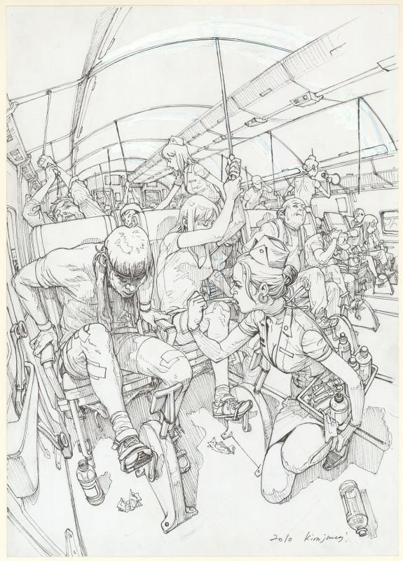 Kim Jung Gi - illustration originale réalisée pour illustrer