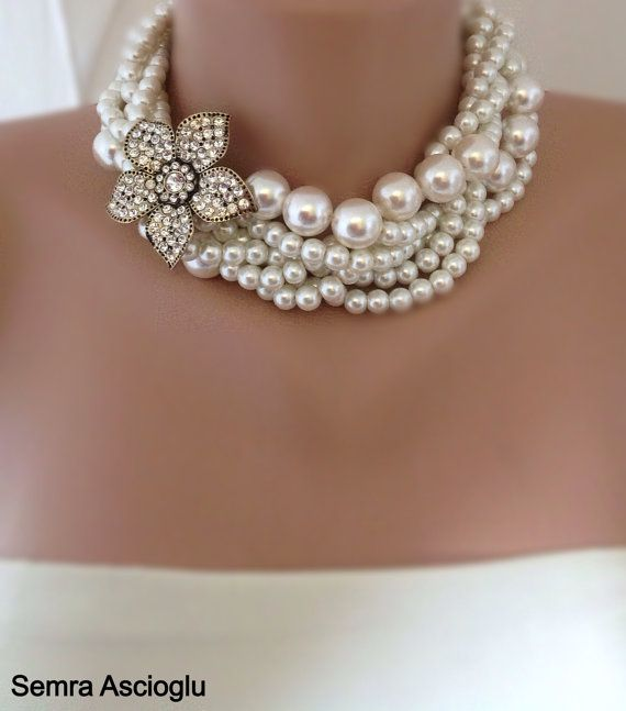 Hey, I found this really awesome Etsy listing at https://www.etsy.com/listing/90353566/brides-pearl-wedding-choker-bold-chunky