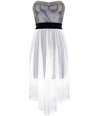 Sheer Dip Hem Dress