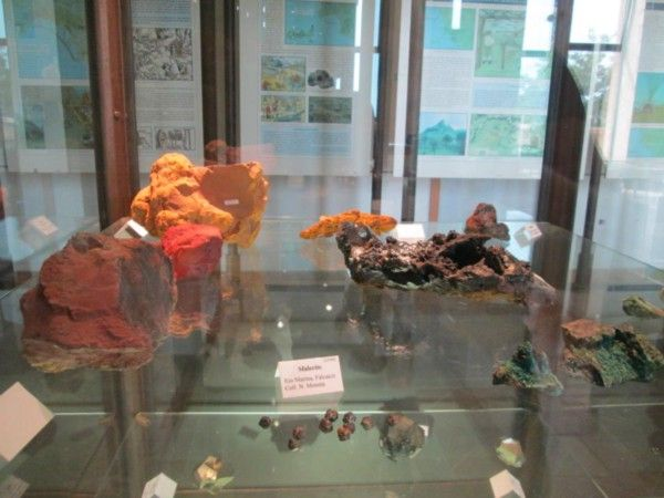 Collection of the minerals of Elba from the people of Rio in the Mining District Archaeological Museum