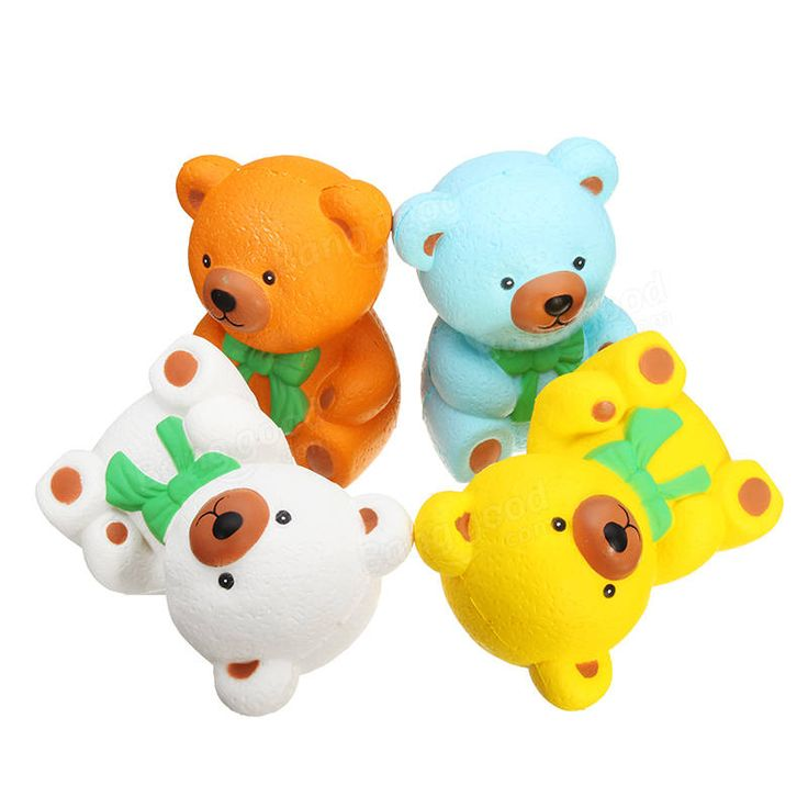 Slow Rising Squishy 13*10*7CM Pu Bear Simulation Stress Relief Toys With Packaging Collection Gift