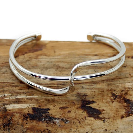 Pura Mexico Sterling Silver Two Twist Style Cuff Bangle - Exquisite