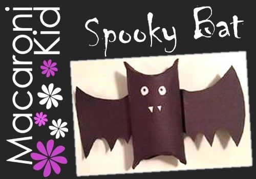 Macaroni Crafts: Get Spooky With An Easy Halloween Bat Craft for Kids