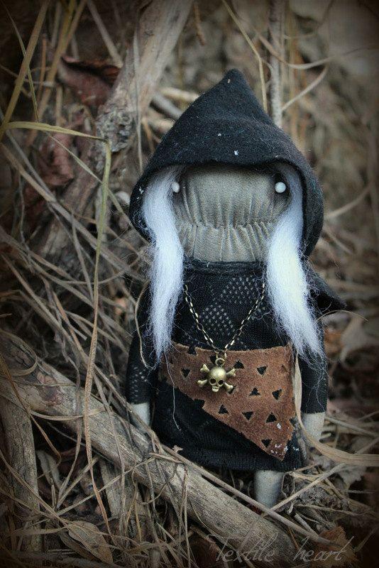 Lucinda Witch Monster  art doll creature by IrinaSTextileheart