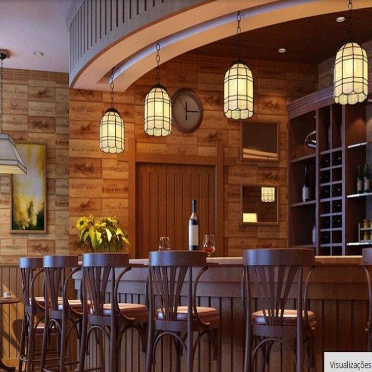 beibehang Wood wine Chess Vintage Retro decorative 3D Wallpaper PVC wall paper b…