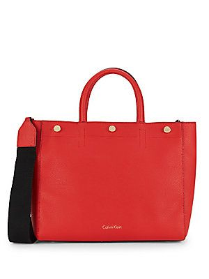 CALVIN KLEIN UNLINED PVC LEATHER TOTE BAG. #calvinklein #bags #tote #leather #lining #shoulder bags #pvc #hand bags #