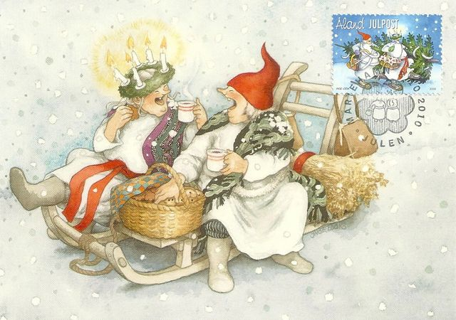 ^Grannies at Christmas^ Artist ~Inge Look~