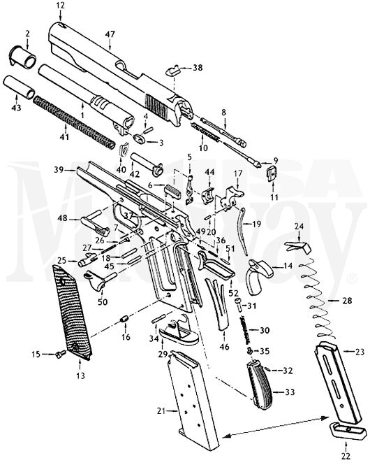 1911 Goverment Schematic Is Here At Midwayusa