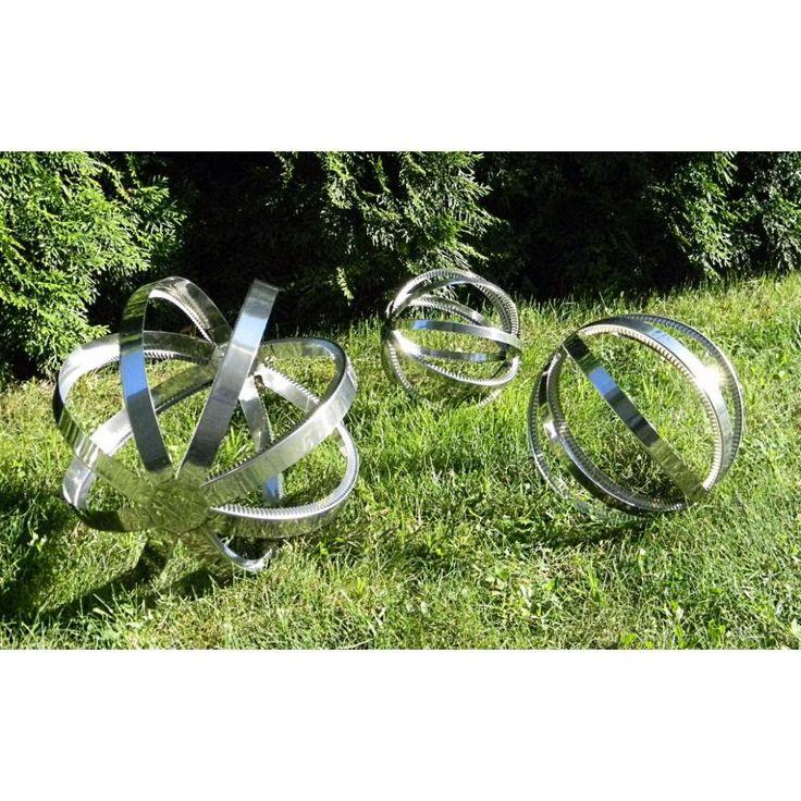 YERD Windspiel 27 cm Kugel, Edelstahl Wind-Spinner