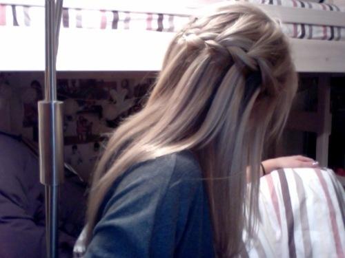 braid: Braids Hairstyles, Pretty Hairstyles, Blonde, Hair Styles, Hairstyles Makeup, Creative Hairstyles, Braid Hairstyles, Beauty, Waterfall Braids
