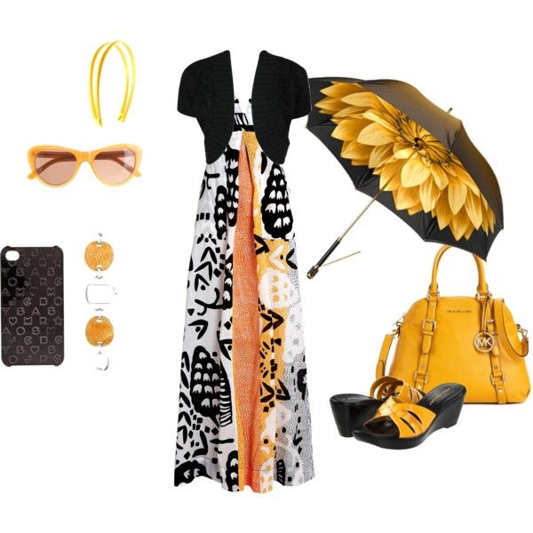 Maxi Orange, created by heather-581: Outfits Um Brel La