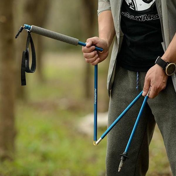 Naturehike складной тростью 4-секции трекинговые палки альпеншток алюминиевый кемпинг пеший туризм