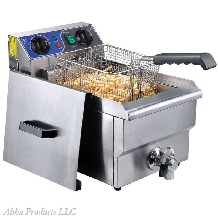 Commercial Restaurant Stainless 10L Table Top Fry Basket Deep Fryer Machine Oven #Unbranded