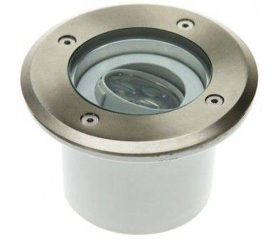 LED Bodeneinbaustrahler rund schwenkbar 3x1W warmweiß 230V EEK:A