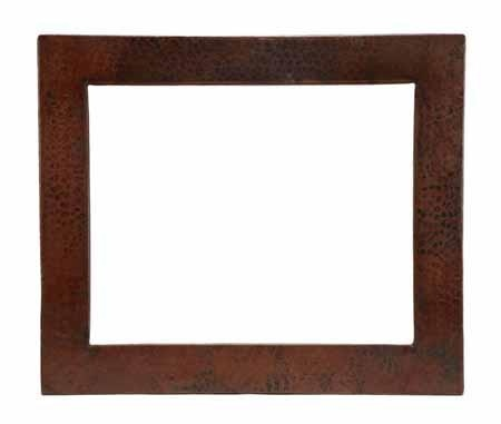 The Rectangular Copper Mirror Has A Handcrafted Hammered Copper Frame  Available In 4 Finishes. Made From Lead Free Copper By SoLuna Copper  Artisans.