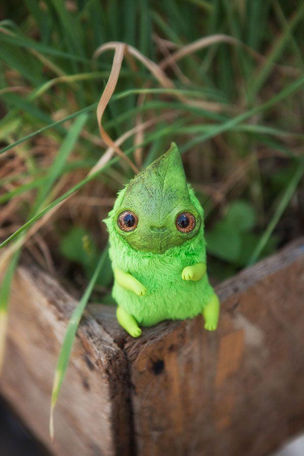 OOAK art toy Leaf spirit doll fantasy creature by Furrykami-creatures.deviantart.com on @DeviantArt