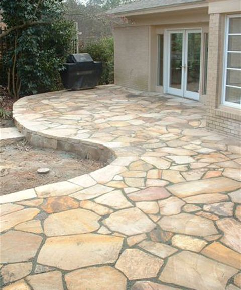 Flagstone Patio Instead Of A Wooden Deck.