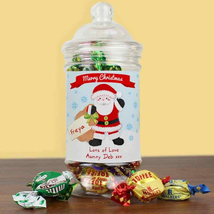Personalised Santa Toffee Jar