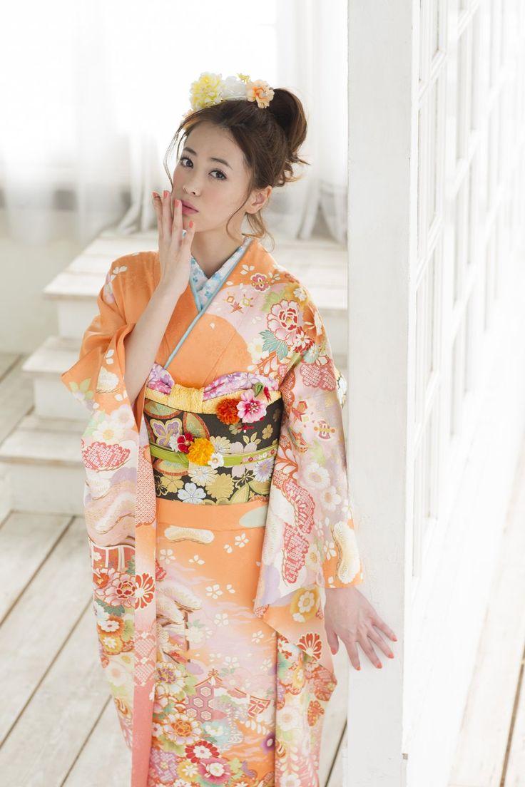#Kyoto #kimono yuzen 京都きもの友禅 Model Rika-chan りかちゃん - Japan - April 2016