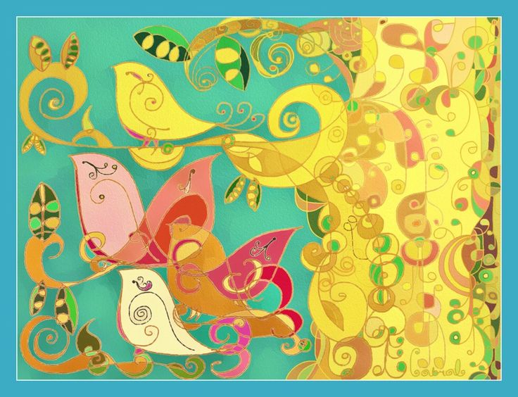 Mom Wall Art- bird Print- Art Nouveau Style Print- Whimsical Print- Women Decor- Hollywood Regency- Office Decor Print -Valentines Day