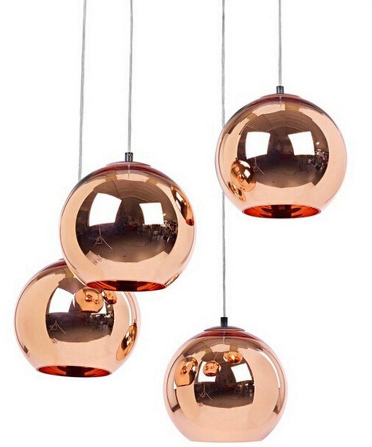 2015 newest Tom Dixon plated copper pendant lights glass15/20/25/30/35/40cm e27 pendant lamp dining room lighting fexture 1390-in Pendant Lights from Lights & Lighting on Aliexpress.com   Alibaba Group