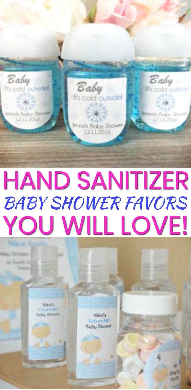 Hand Sanitizer Baby Shower Favors Baby Shower Favors Girl Baby