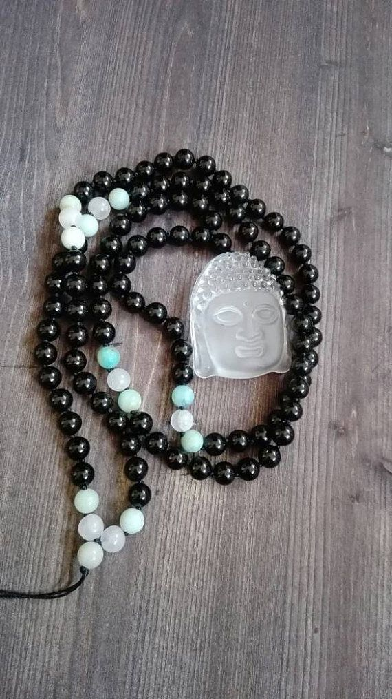Check out this item in my Etsy shop https://www.etsy.com/listing/246365684/buddha-mala-made-of-108-natural-stone