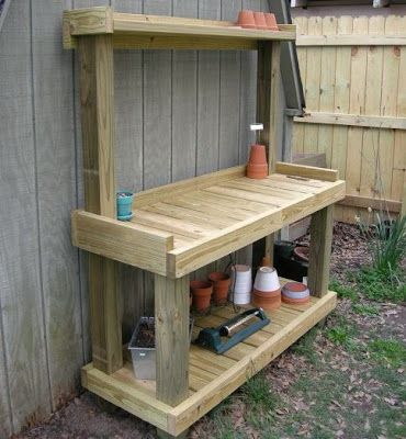 Diy Garden Potting Bench Gardening Pinterest Gardens