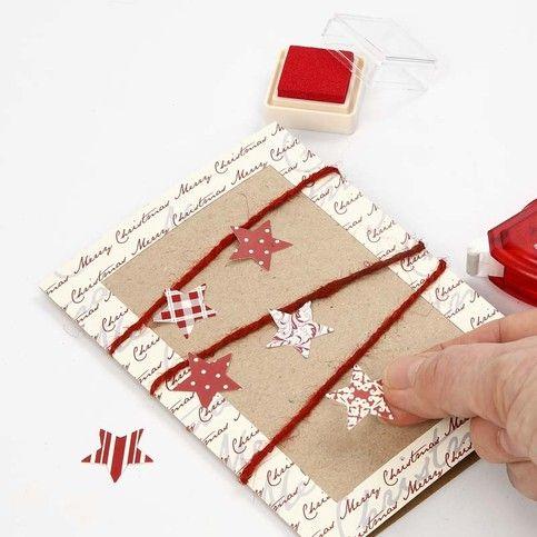 13203 Kvistkort, dekorerad med papper från Vivi Gade Design