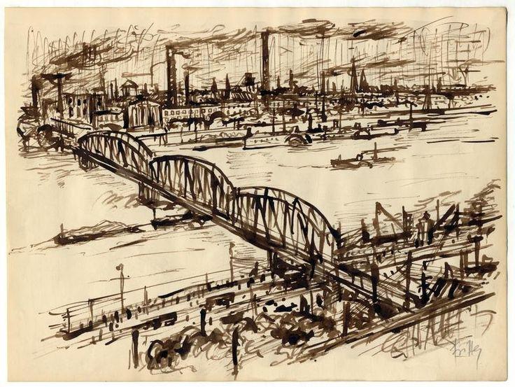 Bedřich Fritta - Železniční most v Praze