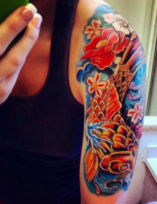Koi Fish Tattoo I Want A Half Sleeve So Bad Koi Fish border=