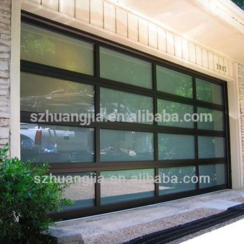 Black Anodized Aluminum Frame Automatic Frosted Tempered Glass Panels  Garage Door Prices - Buy Garage Door,Garage Door Prices,Garage Door Panels  Prices Product on Alibaba.com