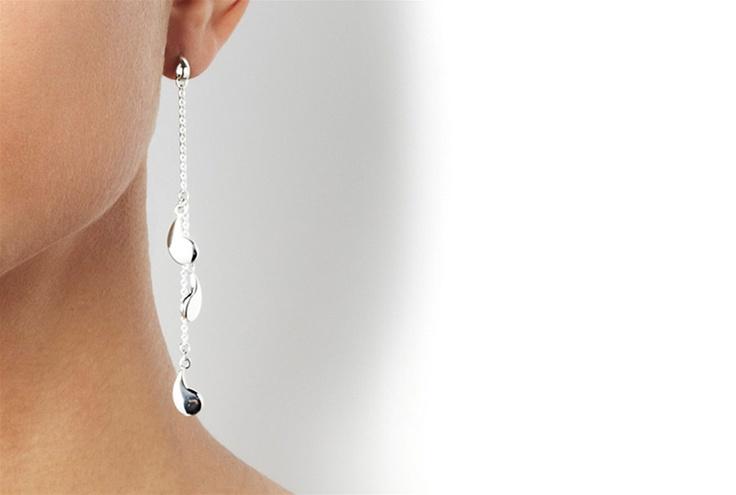 Waterfall For Ears Gold - Gold - Earrings - Efva Attling
