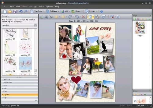 Picture Collage Maker Pro v3.3.9 portable - Beautiful graphics free