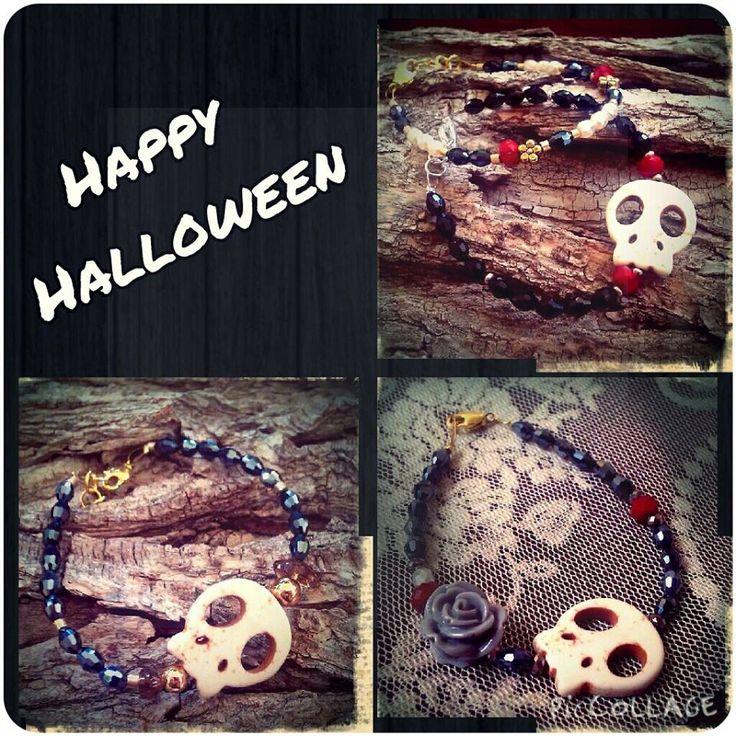 pearlybow, bracelets, skulls, handmade jewels, bracelet