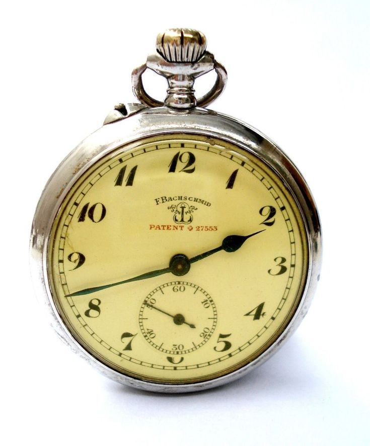 Antique Pocket Watch F. BACHSCHMID Patent 27553 Open Face 1900c Working 50mm | eBay