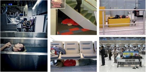 GSA - The Guide to Sleeping in Airports. Pour ne plus être en privation de sommeil à cause d'un vol annulé ou retardé. Des lieux improbables, des astuces...