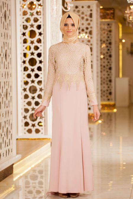 12b26b416fa10 Tesettur Elbisesi adlı kullanıcının Tesettür Abiye Elbiseler panosundaki  Pin, 2019 | Dresses with sleeves, Dresses ve Fashion