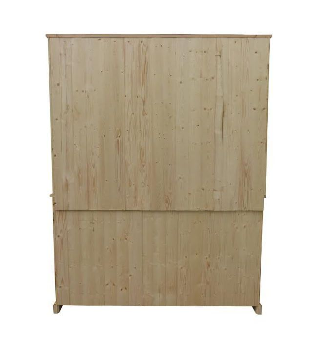 Solid pine inside and out on all of our items of furniture.
