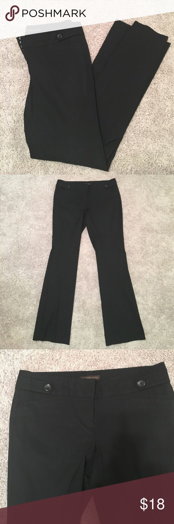 The Limited Exact Stretch dress pants EUC dress/work pant from The Limited. Size 14 Long in Black. Great pants to wear to work; lots of stretch and don't wrinkle throughout the day. Have the same pair for sale in Grey & same size. Bundle for a 10% discount! The Limited Pants Trousers