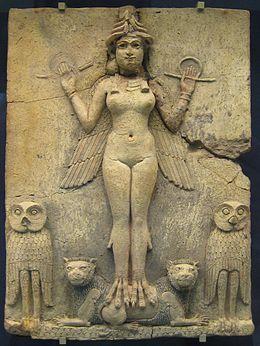 The Black Goddess Epona | Bas-relief représentant la déesse mésopotamienne de la nuit Lilitu ...