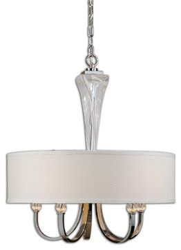 Grancona 5-Light Drum Shade Chandelier - traditional - lamp shades - Fratantoni Lifestyles
