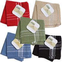 The Home Store Striped & Solid Cotton Dish Cloths, 2-ct. Packs, dollar tree