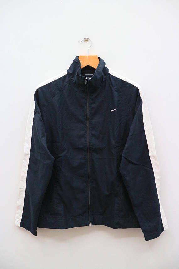 Vintage NIKE Active Wear Sportswear Black Training Jacket