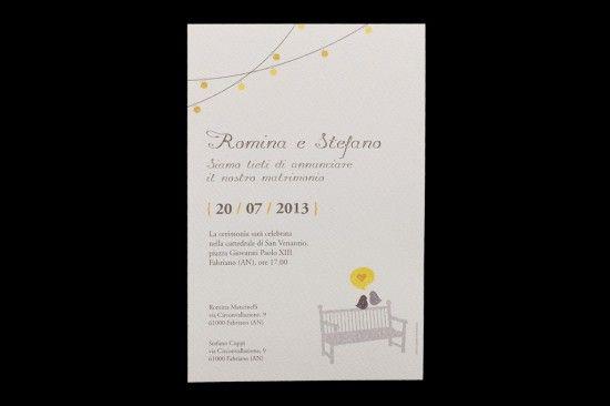 Partecipazioni nozze moderno , romantico, originale, mamma e babbo si sposano: tweet