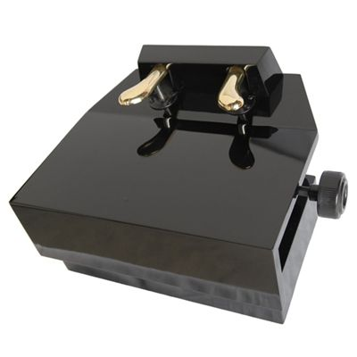 The Piano Pedal Extender is adjustable to four levels. Available in Ebony High Gloss finish (with a black protective mat). A great option for children who can't reach the piano pedals yet. Works on both grand and upright pianos.