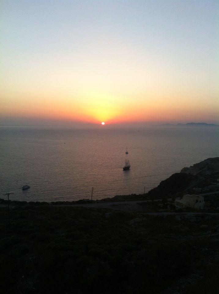 Sunset. Santorini. Greece.